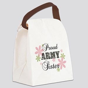 Army Sister [fl camo] Canvas Lunch Bag